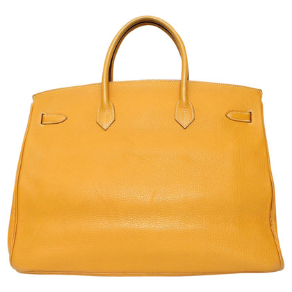 "Hermès ""Birkin Bag 40 Clemence Curry in pelle"""