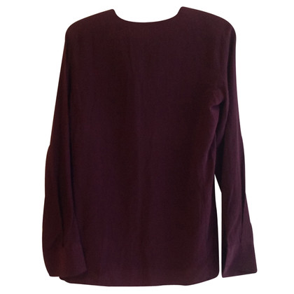 7 For All Mankind Zijden blouse in Bordeaux