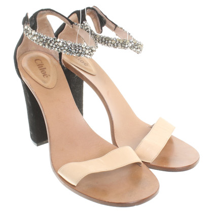 Chloé Sandals in Beige / zwart