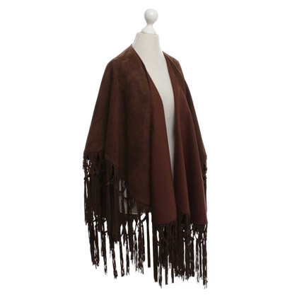 Other Designer Wild leather poncho with fringes