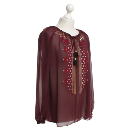 Altuzarra Blouse in Bordeaux
