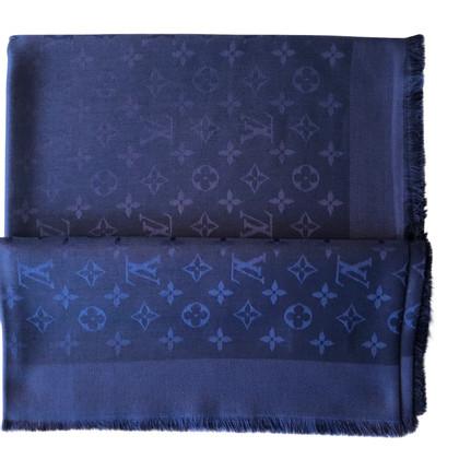 Louis Vuitton Monogram Scarf Night Blue