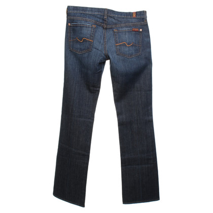 7 For All Mankind Bootcut-jeans in blauw