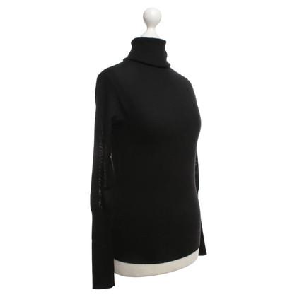 Ralph Lauren Roll collar sweater in black