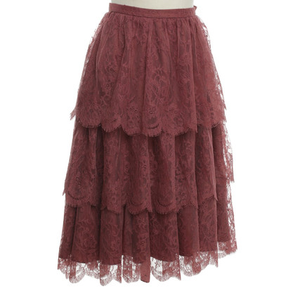 Christian Dior Lace rok in Berry kleuren