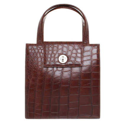 Bulgari Handbag with crocodile-embossed