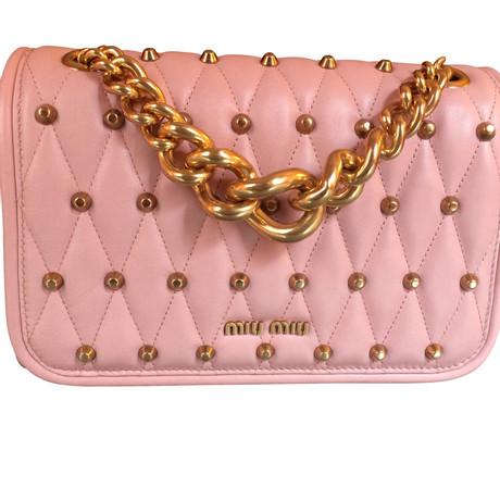 Billig Zuverlässig Erkunden Zu Verkaufen Miu Miu Umhängetasche Rosa / Pink Billig Verkauf Angebote Kosten Günstig Online Rabatt Günstig Online DevObsANf