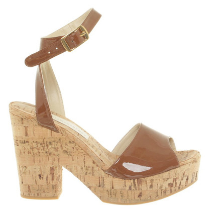 Stella McCartney Cork wedges in Brown