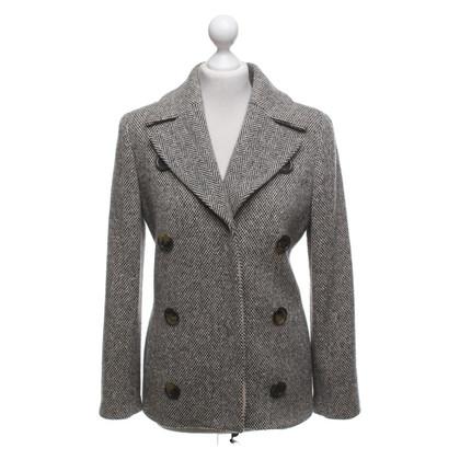Anna Molinari Veste en laine noire / beige