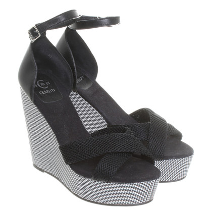 Cerruti 1881 Wedges zwart wit