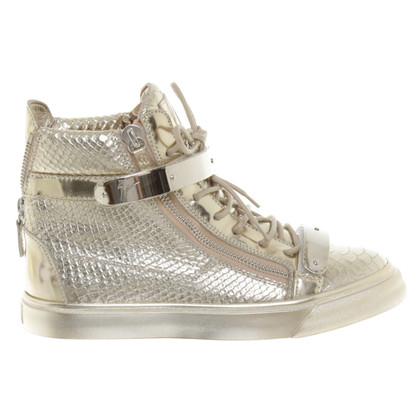 Giuseppe Zanotti Gold-colored sneakers