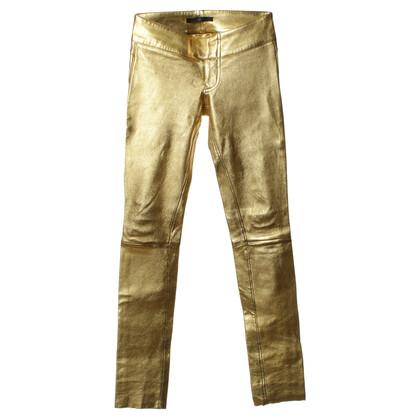 Altre marche Pantaloni di pelle di Sly - oro