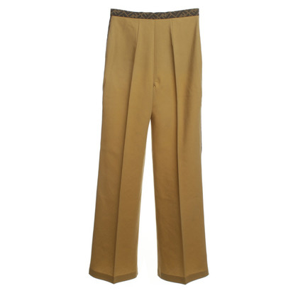 Fendi Pantaloni larghi in ocra