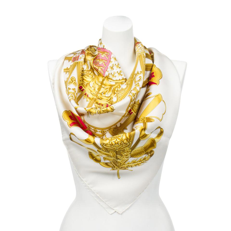 """Hermès Foulard en soie """"British Heraldry"""""""