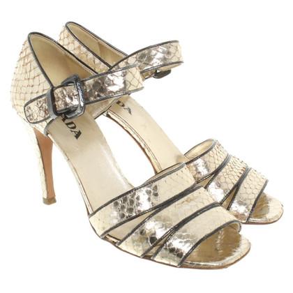 Prada Sandals in gold colors