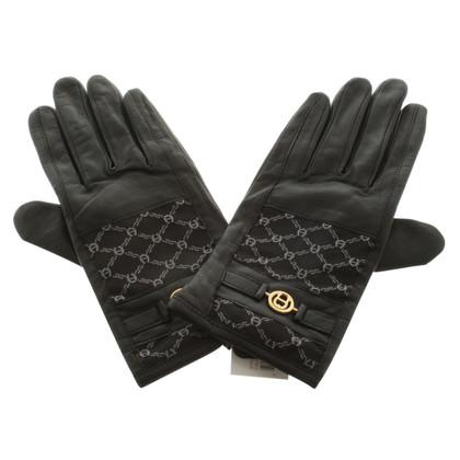 Aigner Handschuhe mit Logomuster
