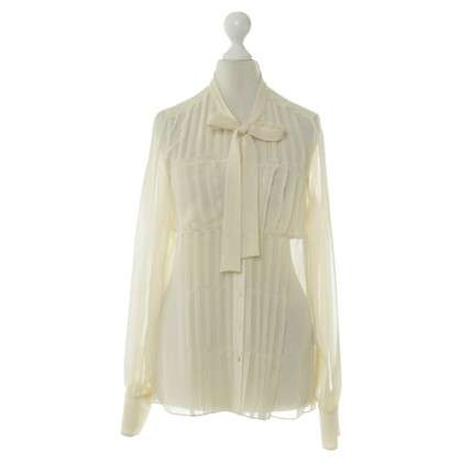 L.K. Bennett Button blouse in cream