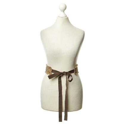 Prada Belt with crochet details