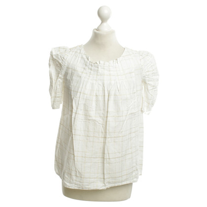 Marc by Marc Jacobs T-shirt in bianco / oro