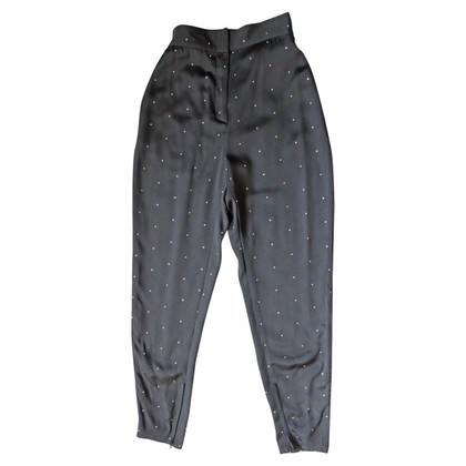 Gianni Versace Pants blacks with vintage rhinestones