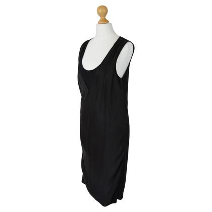 Velvet Robe en soie drapée noire