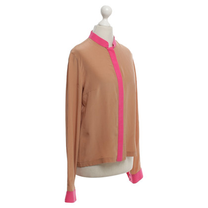 Thu Thu Blouse with pink colored trim