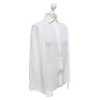 Valentino Zijden blouse in crème