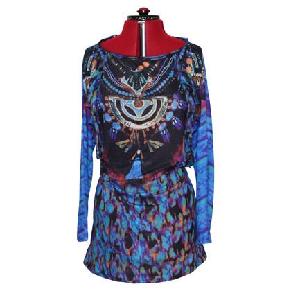 Antik Batik Top a tunica in jersey a tunica blu brillante