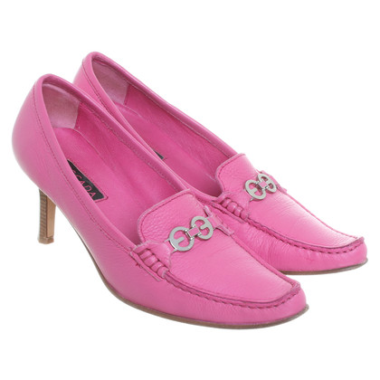 Escada Leather shoe boots in pink