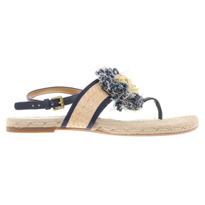 Coach Sandals of sisal / bast