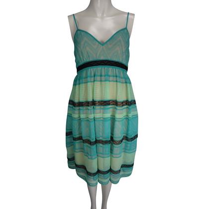 Missoni dress in aqua shades