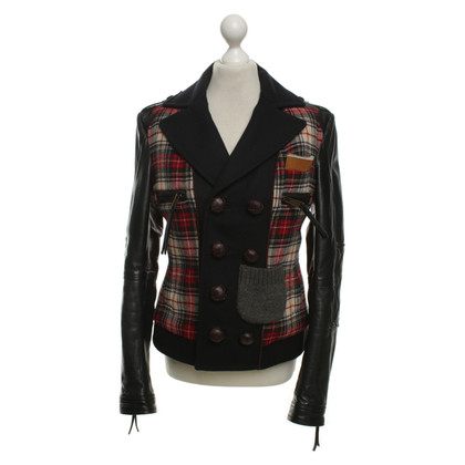 Dsquared2 Short jacket with leather trim