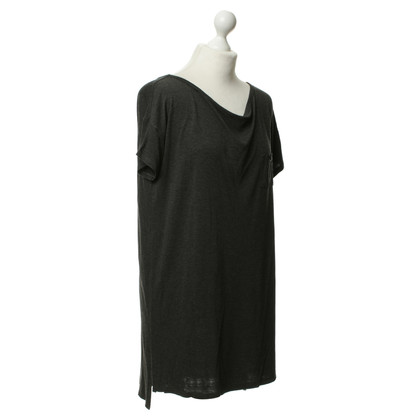 T by Alexander Wang Dunkelgraues Longshirt/Kleid