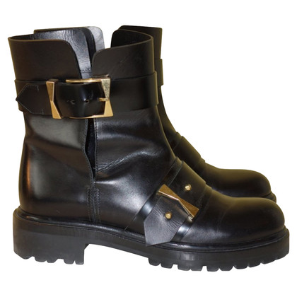 Alexander McQueen Biker boots with cut outs