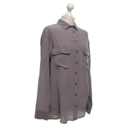 Equipment Blouse in taupe / grijs