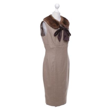 Escada Dress with fur collar
