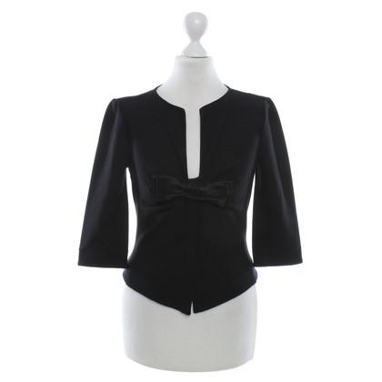 Armani Collezioni Jersey jacket in black