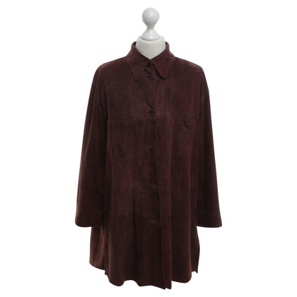 Marc Cain Blouse shirt made of suede