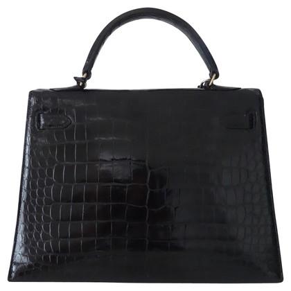 """Hermès """"Kelly Bag 32"""" made of alligator leather"""