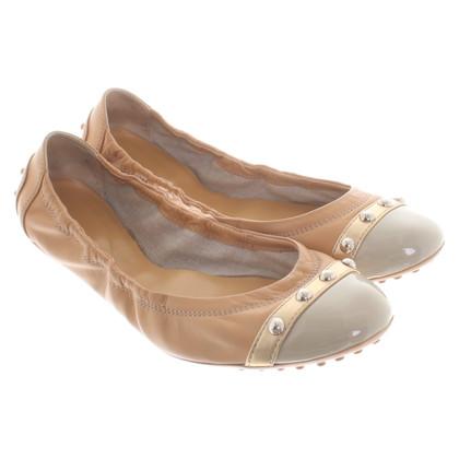 Tod's Ballerina's in beige