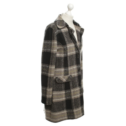 Marc Cain Coat with plaid pattern