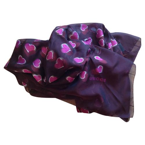 Gucci Grand foulard en soie - Acheter Gucci Grand foulard en soie d ... 55b5e04b887
