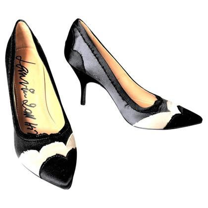 Lanvin pumps in zwart / wit