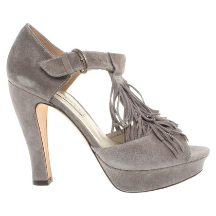 Pura Lopez Peep-dita dei piedi in grigio