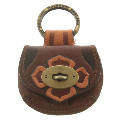 Mulberry Keychain in brown