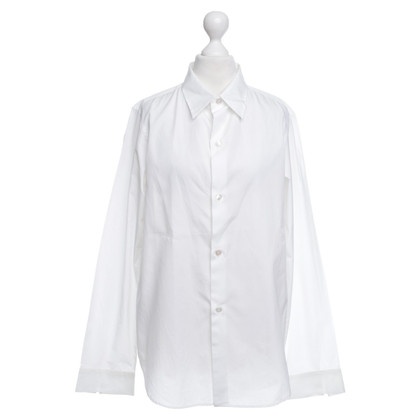 Yohji Yamamoto Baumwollbluse in Weiß