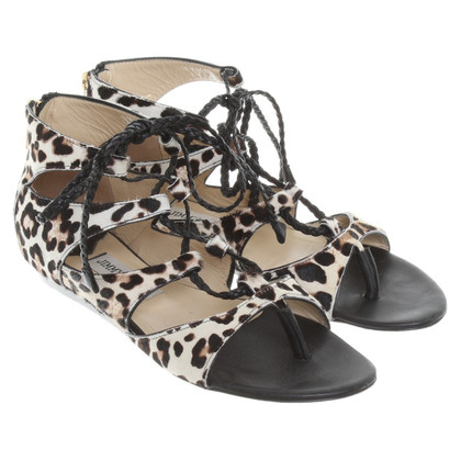 Jimmy Choo Sandalen mit Animal-Print
