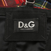 Dolce & Gabbana Corset with check pattern