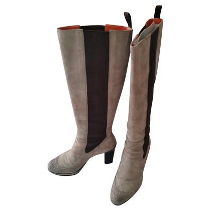 Santoni Beige suede boots