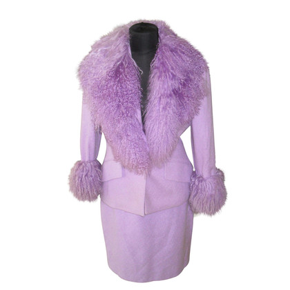 Escada Costume with Tibetan lamb fur